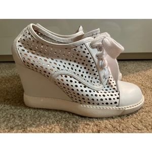 See by Chloe perforated wedge shoes